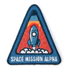 Space Mission Alpha Decorative Embroidered Sew or Iron-on Backing Patch