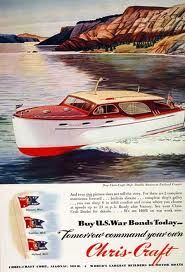 Chris Craft reminds me of what you see docked at Pootatuck Yacht Club