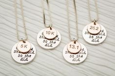 Marathon Jewelry - 4 Options    Celebrate and show your accomplishments with a beautiful piece of race jewelry    70% OFF