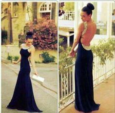 Beautiful backless dress
