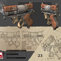 Steampunk Revolver - rmory studios