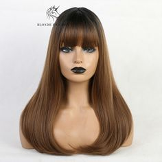Long Straight Gray Blue Synthetic Wigs with Air Bangs for Women Cosplay Anime , Ash Grey, Gray, Dark Roots, Wigs With Bangs, Synthetic Wigs, Natural Oils, Wig Hairstyles, Halloween Face Makeup, Cosplay