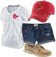 """""""Red Sox Game"""" by laura-matt on Polyvore"""
