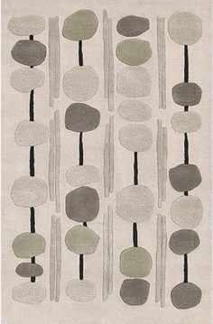 100% New Zealand Wool; Black + ivory + stone + oregano | Artist Studio Rug cort.com
