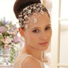 Hermione Harbutt Tallulah Crystal Headdress Swarovski Crystal Vintage Wedding Side Tiara Headdress