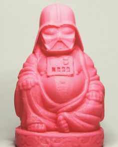 """Buddha Pop Icon """"Vader"""" Printed in 0.3mm layer height with our special magic #3dprinting  #3dprinted  #3dprint  #3dart  #bandung #indonesia #productdesign  #art  3D model courtesy of www.thingiverse.com by 3did.rpm"""