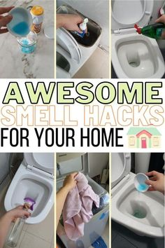 Can't seem to get rid of that unknown odor in your bathroom? If you want your bathroom to smell fresh and clean again then, you will love these 21 smell hacks. Your bathroom will smell amazing all day everyday and you will save tons of money while keeping your home safe from toxic chemical. Check this post out and smell the difference! #homewhis #bathroomsmellhacks #smellhacks #cleaninghacks #householdhacks #cleaningtips #householdtips Bathroom Cleaning Hacks, Toilet Cleaning, Diy Cleaning Products, Cleaning Solutions, Cleaning Tips, Deodorize House, Brushing With Baking Soda, Cleaning With Hydrogen Peroxide, Baking Soda Cleaning