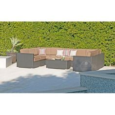 Willow Creek Designs Sonoma 10 Piece Deep Seating Group with Cushion Fabric: Air Blue