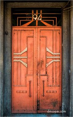 Art Deco Doors - Mexico City, Door | ドア | Porte | Porta | Puerta |