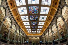 Il salone Liberty della Sede Storica di Banca Etruria, in Corso Italia ad #Arezzo.