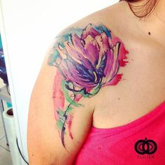 Feminidad. Cover up hecho en freehand   #elilien #watercolor #freehand #tattoo