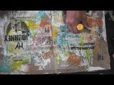 My Journey - Mixed Media Friday Tutorial - Art Journal tutorial - YouTube