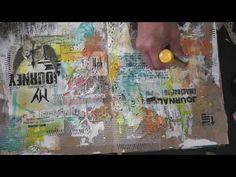 My Journey - Mixed Media Friday Tutorial - Art Journal tutorial - YouTube