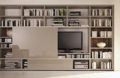Mega – Design TV & Wall Unit – Hulsta – Hulsta Furniture in London Wall Panel Design, Tv Wall Design, Tv Unit Design, Tv Design, Tv Furniture, Luxury Furniture, Furniture Design, Cabinet Furniture, Modern Furniture
