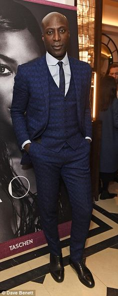 Dapper: Rapper Tinie Tempah (left) and fashion designer Ozwald Boateng (right) were as on point as ever