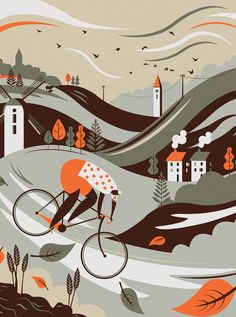 A new set of cycling prints for the shop. These are all available over at crayonfireshop.co.uk and all inspired by those long countryside rides.