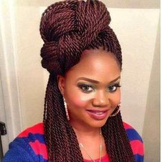 49 Senegalese Twist Hairstyles for Black Women - . 49 Senegalese Twist Hairstyles for Black Women - - Soft, shiny, silky and w. Box Braids Hairstyles, Braided Hairstyles For Black Women, Natural Hair Styles For Black Women, Braided Hairstyles For Wedding, Braids For Black Women, Braids For Black Hair, African Hairstyles, Short Hair Styles, Black Hairstyles