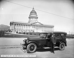 Lincoln Car at Capitol with Governor Mabey ::
