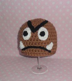 Baby Crochet Goomba Hat. Hand Made Preemie to by AdairToCrochet