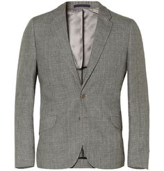 PS by Paul Smith Slim-Fit Check Linen Suit Jacket | MR PORTER