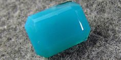 4 ct Rare GEM Natural Silica Chrysocolla Ray mine az 11 x 8mm Emerald Cut Beauty #JewelsRoughGems