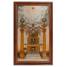 Rare Masonic Tracing Board