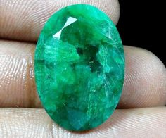 29.65 Cts RARE DYED GREEN ROPADA ! AAA FACETED OVAL GEMSTONE SO2214