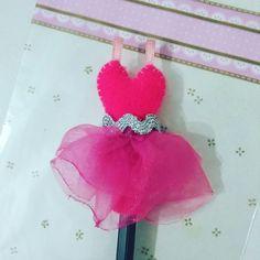 Ponteira para lápis vestido bailarina