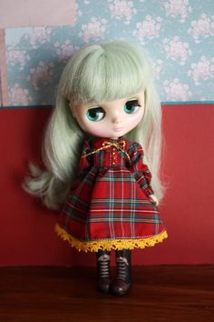 Middie Blythe Vintage Cute Tartan Dress Set by cmondolly on Etsy