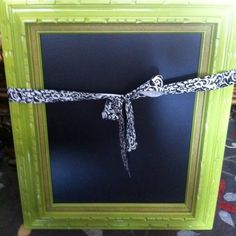 DIY chalkboard frame!