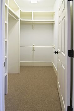 Typical frameless construction found in most closet systems ...Frameless, I like!!!