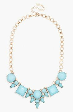 The geometric shapes in this strand will pair perfectly with every neckline.