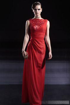 Column Bateau Floor-Length Lace Evening/Party Dresses(Free Shipping) #Tibuy.com