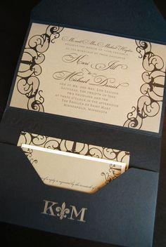 Elegant Wedding Invitations Spark Letterpress www.letterpresslove.com