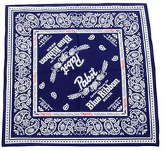 We took the standard bandana look and added a Pabst Blue Ribbon twist to it.  PBR ribbons and hops were integrated into the design, making this a pretty bad ...