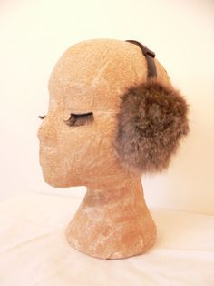 1980s RABBIT FUR EARMUFFS by HousewifeVintage on Etsy, $19.00