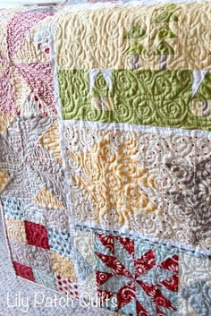 Lily Patch Quilts: Row By Row Finish