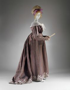 1795 Round Gown: Diary of a Mantua Maker: Purple