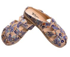 Soojun Womens Ladies Backless Fisherman Sandal Slip On Mules US 6 Blue. Check Soojun Size Chart(Product Description)to get a perfect fit. Easy On and Off, Non-Skid Sole. Contoured foot bed with arch support. Jute, and rubber-blend outsole. Casual flat sandals with extra thick comfort padding are a perfect fit with any dress or casual summer wear, shorts, jeans or leggings.