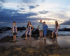 Maui's world class beaches at sunset make perfect backdrops for family portrait photography. See more at: http://mauiislandportraits.com/maui-family-portrait-photography/