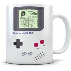 Gengar Mug Screenshot on Gameboy Classic 90s Retro Pokemon Video Game... ($15) ❤ liked on Polyvore featuring home, kitchen & dining, drinkware, drink & barware, home & living, mugs, silver, silver coffee mugs, birthday cup and silver cup