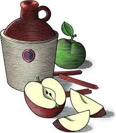 Stylized apples.