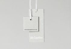 Ally Capellino, visual identity, swing tags
