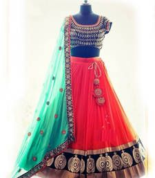 Buy Red&Pink Fancy Designer Bollywood Wedding lehengas bollywood-lehenga online