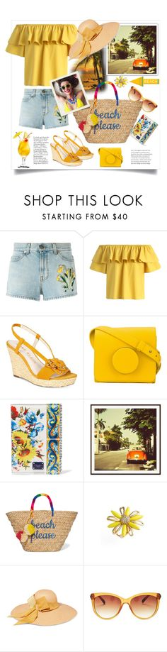 """""""Vacation"""" by natalyapril1976 on Polyvore featuring Mode, Gucci, Chicwish, Anne Klein, Lemaire, Dolce&Gabbana, Pottery Barn, Kayu, Kate Spade und Sensi Studio"""