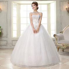 Real photos new spring summer 2016 bride wedding dress set auger ivory white wholesale cheap fashion women dresses #H35