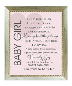 Look at this #zulilyfind! The Grandparent Gift Co. 'Baby Girl' Poem Framed Print by The Grandparent Gift Co. #zulilyfinds