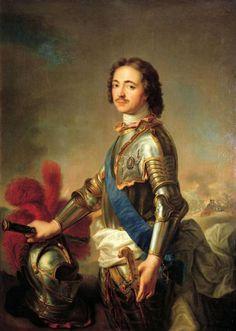 Portrait of Tsar Peter I by Jean-Marc Nattier (1717)