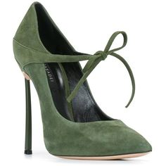 Casadei lace-up pumps (1.960 BRL) ❤ liked on Polyvore featuring shoes, pumps, heels, green shoes, lace up shoes, laced up shoes, laced shoes and genuine leather shoes