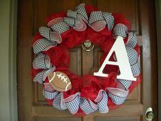 Deco+Mesh+Wreath+Alabama+Football+by+DecoratedDoors+on+Etsy,+$65.00